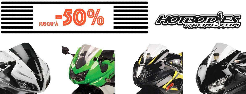 Promo jusqu'à -50% sur une séléction de bulle pour Moto HOT BODIES