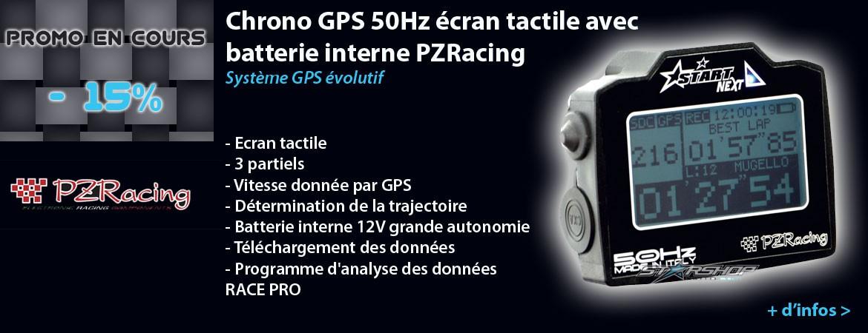 Chrono GPS éran tactile batterie interne PZRacing pour moto