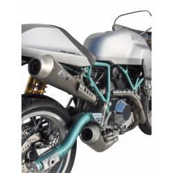 Ligne complète échappement 2 en 2 inox homologue Zard Ducati classic 1000 Paul Smart