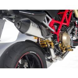 Ligne complète échappement haute 2 en 1 homologuee inox scudo Zard Ducati Hypermotard 796