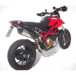 Ligne complète échappement haute 2 en 1 homologuee inox titane scudo Zard Ducati Hypermotard 796