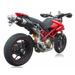 Ligne complète échappement haute 2 en 1 scudo racing titane Zard Ducati Hypermotard 796
