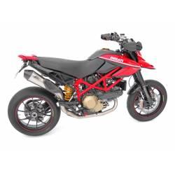 Ligne complète échappement haute 2 en 1 scudo homologuee inox titane Zard Ducati Hypermotard 1100 1100 S