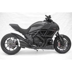 Echappement homologue inox cat noir Zard Ducati Diavel