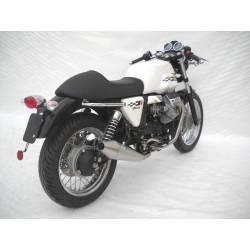 Echappements inox homologue aspect chrome Zard Moto Guzzi Nevada V7 cafe racer classic