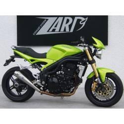 Pot échappement moto Zard homologué inox pour Triumph Speed Triple