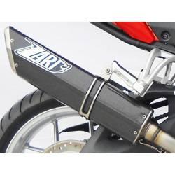 Pot échappement carbone moto bas Zard homologué pour Triumph Tiger 1050