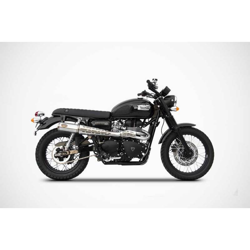 ligne compl te inox homologue cat triumph scrambler starshop votre expert pi ces et. Black Bedroom Furniture Sets. Home Design Ideas