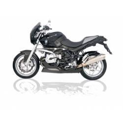Pot échappement moto homologué inox chromé Zard BMW R1200R