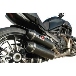 Ligne complète double échappement carbone Ducati Diavel