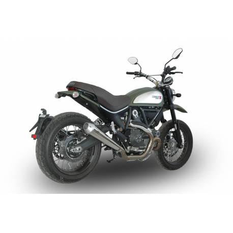 Echappement bas noir mégaphone homologué Ducati Scrambler