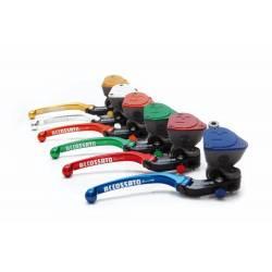 Maitre cylindre frein Accossato 19x19 bocal intégré et levier repliable