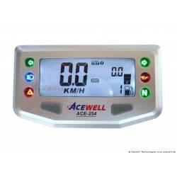 Compteur digital Acewell modèle 254 argenté