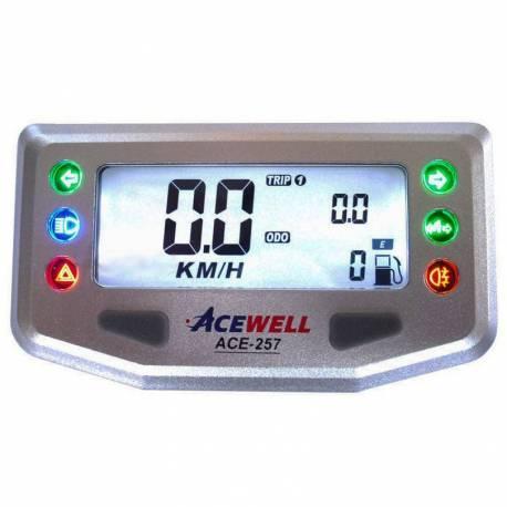Compteur digital Acewell modèle 257 argenté