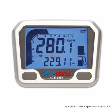 Compteur digital Acewell modèle 3851 argenté yfM660r