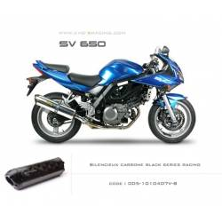 Echappement M2 en carbone option black séries Suzuki SV650