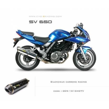Echappement M2 en carbone Suzuki SV650