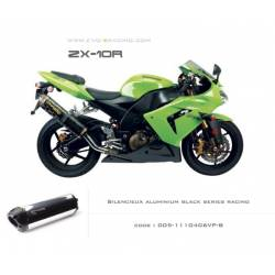 Echappement M2 aluminium poli option black séries Kawasaki ZX 10 R