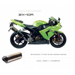 Echappement M2 en titane option black séries Kawasaki ZX 10 R