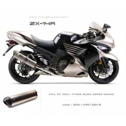 Ligne complète échappement M2 en titane option black séries Kawasaki ZZR1400