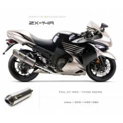 Ligne complète échappement M2 en titane Kawasaki ZZR1400