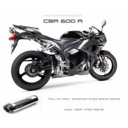 Ligne complète échappement M2 en aluminium option black séries Honda CBR600