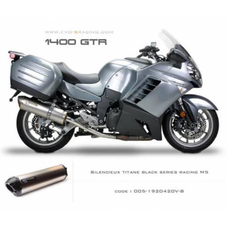 Echappement M5 en titane option black séries Kawasaki 1400gtr