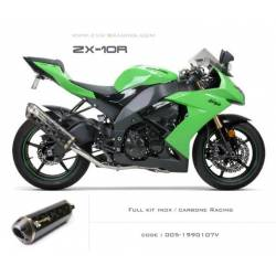 Ligne complète échappement M2 en carbone Kawasaki ZX 10 R