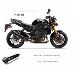 Ligne complète échappement M2 en aluminium poli Yamaha fz8