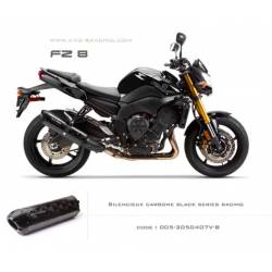 Echappement M2 en carbone option black séries Yamaha fz8