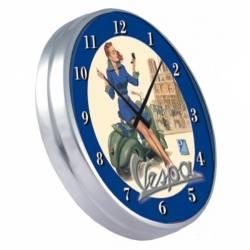 Horloge Vespa bleue diam. 32 cm