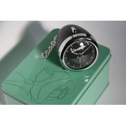 Petit reveil horloge avec boite en metal noir