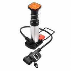 Mini pompe à pieds nanomètre digitale 12 bar pour moto