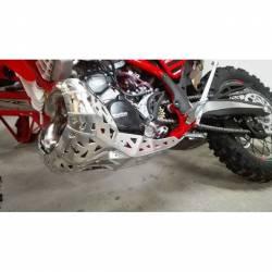 Sabot moteur et échappement en aluminium Beta RR250 et RR300