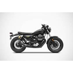 Double échappements modèle BIG en inox homologue Moto Guzzi Bobber