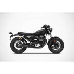 Double échappements modèle SLIM en inox homologué Moto Guzzi Bobber