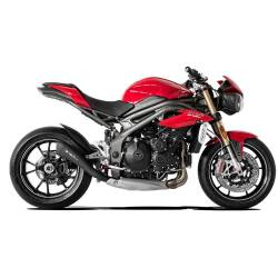 Echappement bas hydroform noir racing HP Corse Triumph Speed Triple 2016 à 2018