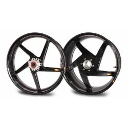 Roues carbone homologuees 5 batons BST Ducati Monster S4Rs