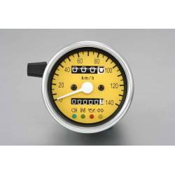 Compteur mécanique fond jaune 60mm rapport K14