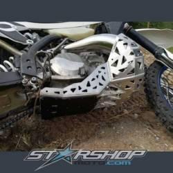 Sabot moteur et échappement en aluminium avec protection KTM Husqvarna