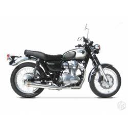 Ligne complète échappement moto basse conique Zard racing 2 en 1 pour Kawasaki W 800