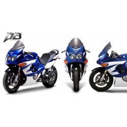 Bulle Zero Gravity double courbure colorée pour Suzuki Katana 600 750