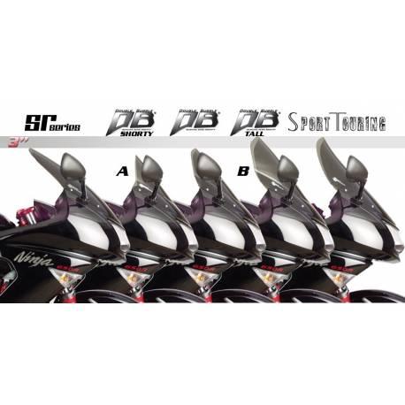 Bulle Zero Gravity double courbure colorée pour Kawasaki Ninja 650R lo profile