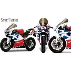 Bulle Zero Gravity réhaussée sport touring Ducati 1098 S R bayliss Tricolore 848 Nicky Hayden 1198 S