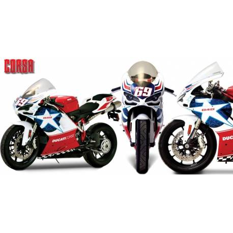 Bulle Zero Gravity Corsa Series Ducati 1098 S R bayliss Tricolore 848 Nicky Hayden 1198 S