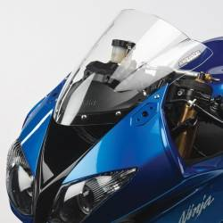 Bulle gp double courbure transparente Hotbodies Racing Kawasaki ZX6R