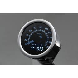 Compteur de vitesse Daytona moto OLED 200 Km/h inox 60 mm