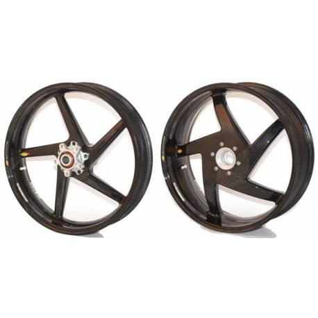 Roues carbone homologuees 5 batons BST Ducati 748