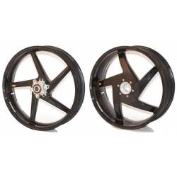 Roues carbone homologuees 5 batons BST Ducati 848