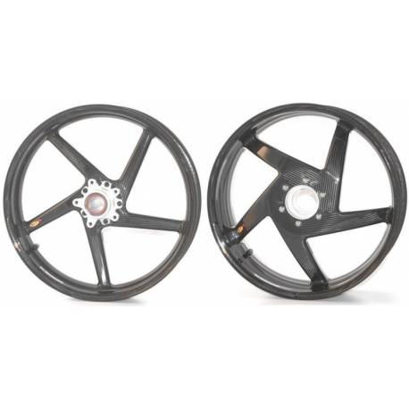 Roues carbone homologuees 5 batons BST Mv Agusta Brutale